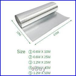 25/40/50 Meters Double Layer Bubble Wrap Aluminium Foil Insulation Membrane Roll