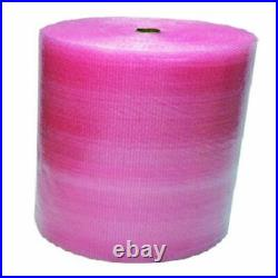3 Rolls Of Pink Small Bubble Wrap Antistatic 500mm x 100m Protective Packaging