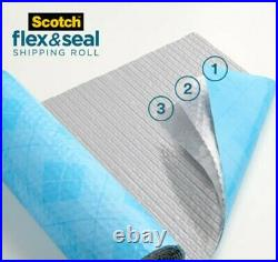 3m Scotch Flex & Seal Shipping Roll Packaging Roll Bubble Wrap Self Seal No Tape