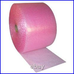 3x Bubble Wrap Rolls Size 500mm x 100m Pink Antistatic Packaging Wrapping
