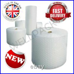 50m x 4 x 750mm Rolls of Heavy Duty Lightweight Large Bubbles Wrap for Packaging