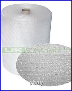 6 SMALL BUBBLE WRAP ROLLS 750mm WIDE x 100 METRES LONG PACKAGING CUSHIONING NEW