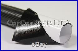 AIR/BUBBLE Free ALL SIZEBLACK COLOURCarbon Fibre VinylWrap 3D Textured 4 CAR