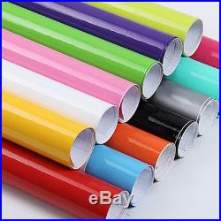 All Colours Glossy High Gloss Vinyl Auto Wrap Film Sticker Decal Air Bubble Free