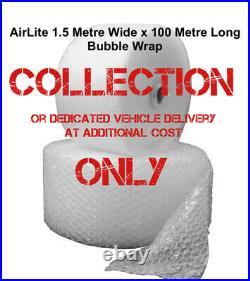 BUBBLE WRAP 2 Rolls 1500mm x 100m LONG Quality PROTECTIVE Small BubbleS AIR LITE
