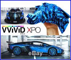 Blue Supercast Chrome Vinyl Car Wrap Roll 5ft x 74ft Bubble-Free Sticker Sheet