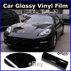 Car Black High Gloss Vinyl Vehicle Auto Wrap Film Sticker Decal DIY Bubble Free