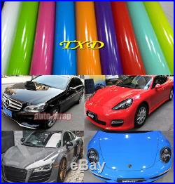 Car Glossy High Gloss Vinyl Vehicle Wrap Film Sticker Decal DIY Air Bubble Free