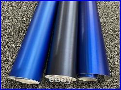 Car Vinyl Wrap Sticker film BLUE Brushed Metallic Car wrapping Air Bubble Free