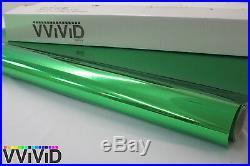 Chrome Green Vinyl Wrap Sticker Sheet Roll 5ftx30ft Bubble Free Tech GCR5M