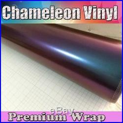 Fashion Car Chameleon Purple to Green Vinyl Wrap Sticker Sheet Film Bubble Free