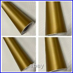 GOLD Vinyl Wrap Brushed Metallic Air Bubble Car wrapping film sticker