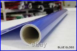 Gloss Blue Vinyl Roll Wrap 5ft x 50ft Supreme Bubble-Free Sticker Sheet