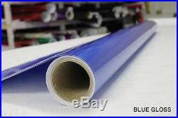 Gloss Blue Vinyl Roll Wrap 5ft x 88ft Supreme Bubble-Free Sticker Sheet