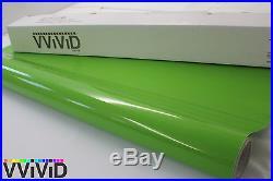 Gloss Lime Green Vinyl Wrap Sticker Sheet Roll 5ftx26ft Bubble Free Tech LGG5M