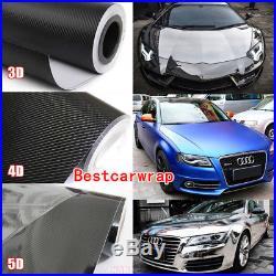 Glossy 3D 4D 5D 6D Carbon Fiber Chrome Car Wrap Film Vinyl Decal Bubble Free