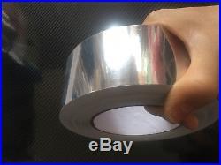 Glossy Mirror Chrome Silver Vinyl Tape Adhesive Car Wrap Sticker DIY Bubble Free