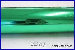 Green Chrome Vinyl Roll 5ft x 37ft Bubble-Free Wrap for Car Bike Boat Trailer