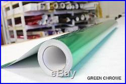 Green Chrome Vinyl Roll 5ft x 49ft Bubble-Free Wrap for Car Bike Boat Trailer