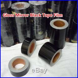High Gloss Black Vinyl Tape Adhesive Car Wrap Sticker DIY