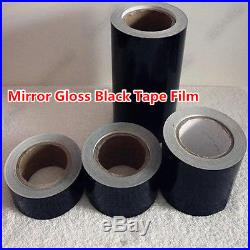 High Gloss Black Vinyl Tape Adhesive Car Wrap Sticker DIY Decal Bubble Free