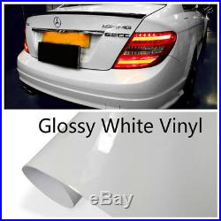 High Gloss Vinyl Car Paint Glossy Film Sheet Wrap Sticker Air/Bubble Free White