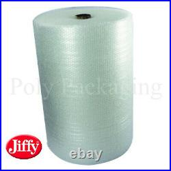 JIFFY BRANDED SMALL Bubble Wrap 750mm x 100m x 6 Rolls Premium Straight Tear