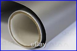 Matte Dark Grey Vinyl Roll 5ft x 100ft Bubble-Free Exterior Sheet Film Wrap