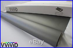 Matte Dark Grey Vinyl Wrap Sticker Sheet Roll 5ftx17.5ft Bubble Free Tech MDG5M