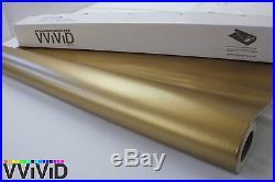 Matte Gold Vinyl Wrap Sticker Sheet Roll 5ftx28ft Bubble Free Technology MGO5M