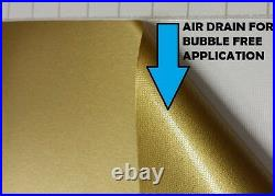 Matte Gold Wrapping Vinyl 1.52 x 20 Meter Roll Hi-Flex Bubble Free Car Wrap