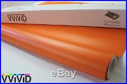 Matte Orange Vinyl Wrap Sticker Sheet Roll 5ftx17.5ft Bubble Free Tech MOR5M