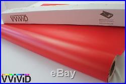 Matte Red Vinyl Wrap Sticker Sheet Roll 5ftx17.5ft Bubble Free Technology MR3M