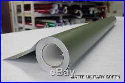 Matte Satin Military Army Green 5ft x 82ft Vinyl Wrap Roll Bubble-Free Sticker