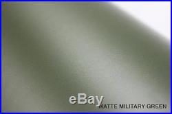Matte Satin Military Army Green 5ft x 92ft Vinyl Wrap Roll Bubble-Free Sticker