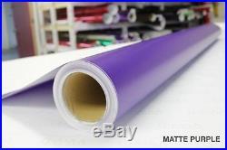 Matte Satin Purple Vinyl Roll 5ft x 62ft Supreme Bubble-Free Sticker Sheet Wrap