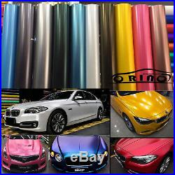 Metallic Pearl Matte Chrome Vinyl Vehicle Wrap Auto Film Foil Air/Bubble Free