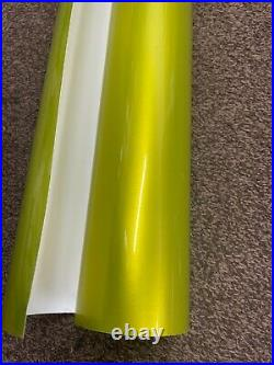 Metallic Vinyl Wrap Car Wrapping LIME YELLO GOLD Gloss Air Free Bubble Film St