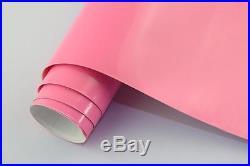 Premium Gloss Pink Vinyl Roll Full Car Vehicle Wrap 1.52m X 30m Bubble Free