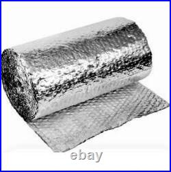 SILVER FOIL CELL AIR BUBBLE WRAP INSULATION 20 SQ Meter 375 MM WIDE