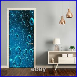 Self adhesive Door Wall wrap removable Peel & Stick Decal Bubbles under water