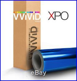 VViViD Blue supercast chrome car vehicle vinyl wrap 10ft x 5ft bubble-free roll