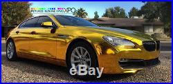 VViViD Gold supercast chrome car vinyl wrap sheet roll bubble-free XPO 50ft x5ft